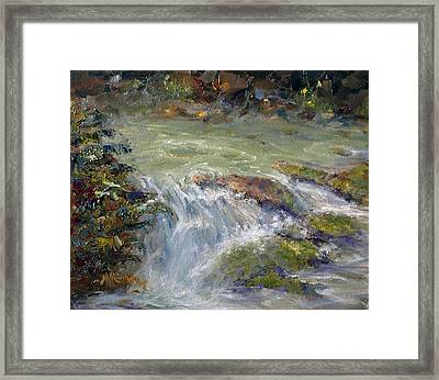 Downstream Framed Print by Marie Green