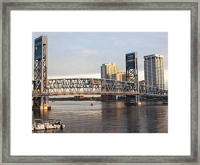 Downtown Jacksonville Framed Print by Tiffney Heaning