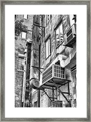 Downtown Northampton - Alley Framed Print by HD Connelly