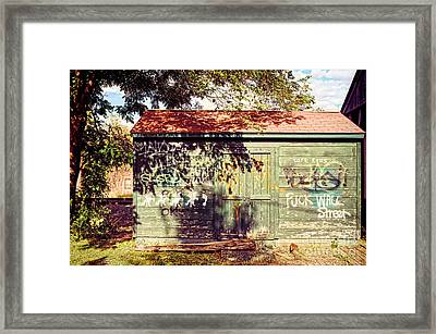 Downtown Northampton - Graffiti Framed Print by HD Connelly