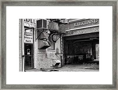 Downtown Northampton - Kirkland Ave Framed Print by HD Connelly