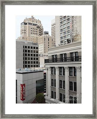 Downtown San Francisco Buildings - 5d19323 Framed Print by Wingsdomain Art and Photography