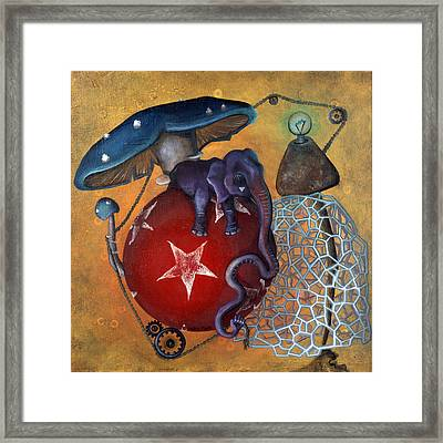 Dow's Newest Best Trick Framed Print by Kelly Jade King