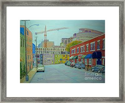 Doyle Street Halifax Framed Print by Rae  Smith PSC