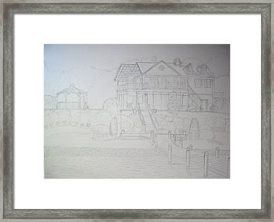 Dr. Hugo's Summer Home Framed Print by Robert May