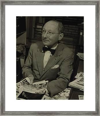 Dr. Otto Bettmann, A German Jewish Framed Print by Everett