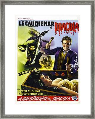 Dracula, Aka The Horror Of Dracula, Aka Framed Print by Everett