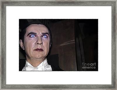 Dracula Cartoon Framed Print by Sophie Vigneault