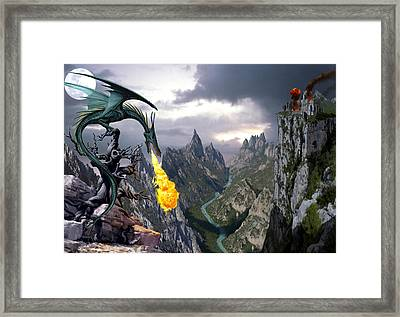 Dragon Valley Framed Print by The Dragon Chronicles - Garry Wa