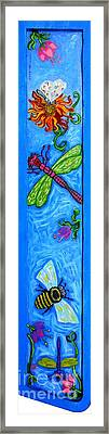 Dragonfly And Bee Framed Print by Genevieve Esson