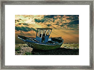 Dramatic Dungeness Framed Print by Meirion Matthias