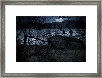 Dreadful Silence Framed Print by Lourry Legarde