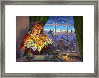 Dream Gardening Framed Print by Anne Wertheim