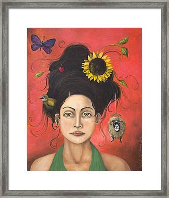 Dream Hair 2 Framed Print by Leah Saulnier The Painting Maniac