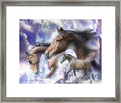 Dream Horses Framed Print by Linda Finstad