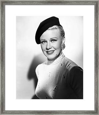 Dreamboat, Ginger Rogers, 1952 Framed Print by Everett