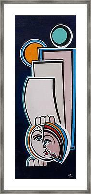Dreamer Blue Framed Print by Valerie Wolf
