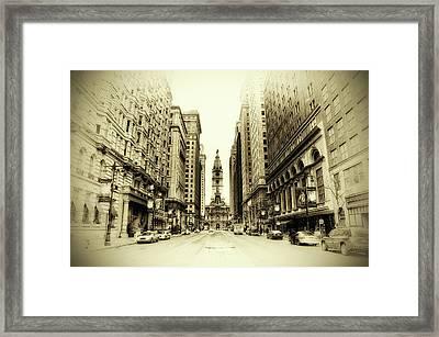Dreamy Philadelphia Framed Print by Bill Cannon
