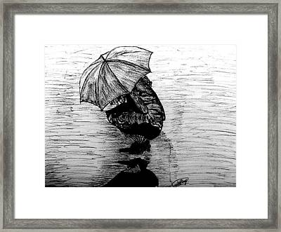 Drenched Shadow Framed Print by Rocky Malhotra
