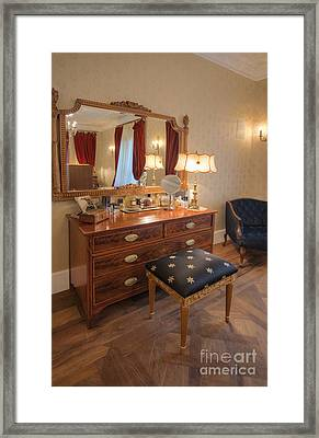 Dressing Table And Mirror Framed Print by Noam Armonn