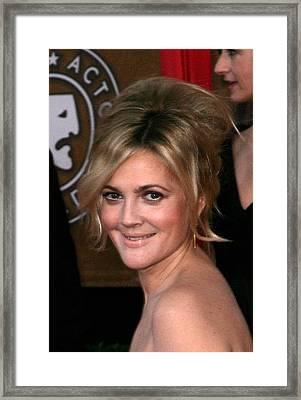 Drew Barrymore At Arrivals For 16th Framed Print by Everett