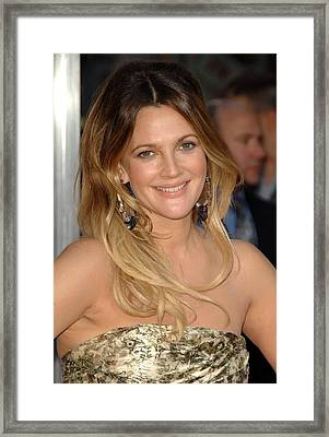 Drew Barrymore At Arrivals For Going Framed Print by Everett