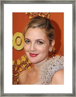 Drew Barrymore At The After-party Framed Print by Everett
