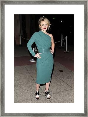 Drew Barrymore Wearing An Elie Saab Framed Print by Everett