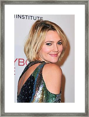 Drew Barrymore Wearing Pucci Framed Print by Everett