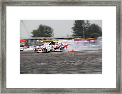 Drifing Car Framed Print by Rahul Manglekar