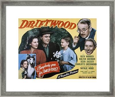 Driftwood, Ruth Warrick, Dean Jagger Framed Print by Everett