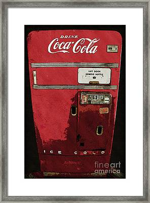 Drink Coca Cola - 15 Cents A Bottle Framed Print by Anne Kitzman