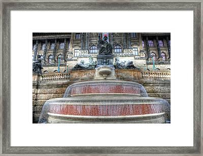 Drinking Fountain Framed Print by Barry R Jones Jr