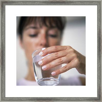 Drinking Mineral Water Framed Print by Cristina Pedrazzini