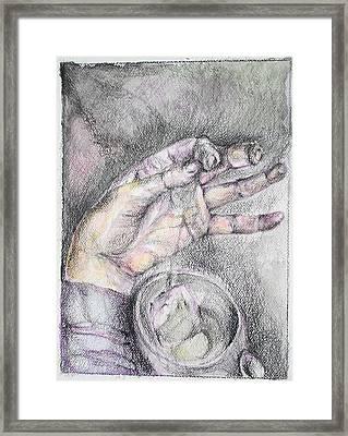 Drinking Tea Framed Print by Vesna Vuksanovic