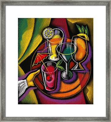 Drinks Framed Print by Leon Zernitsky