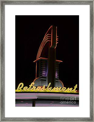 Drive In Movie Lights Framed Print by Jerry L Barrett