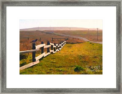 Driving Down The Lonely Highway . Study 1 . Painterly Framed Print by Wingsdomain Art and Photography