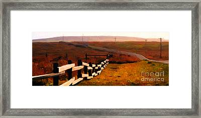 Driving Down The Lonely Road . Long Version Framed Print by Wingsdomain Art and Photography