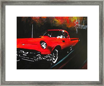 Driving In The Fall Framed Print by Jeff Hunter