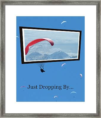 Dropping In Hang Gliders Framed Print by Cindy Wright