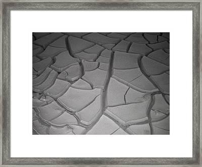 Dry Desert Lake Framed Print by Naxart Studio