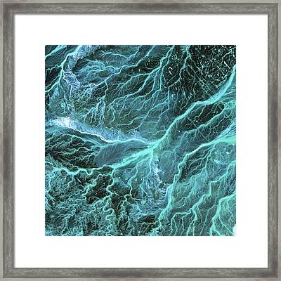 Dry River Beds, Satellite Image Framed Print by Nasa