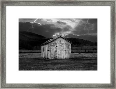 Dry Storm Framed Print by Ron Jones