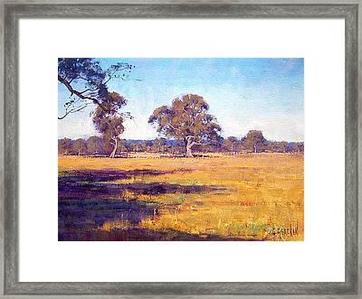 Dry Summer Whittlesea Australia Framed Print by Graham Gercken