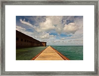Dry Tortugas Sea Wall Framed Print by Patrick  Flynn