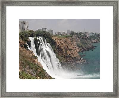 Duden Waterfalls In Turkey Framed Print by