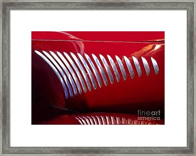 Duesenberg Hood Detail Abstract Framed Print by Howard Koby