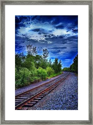 Duluth Railway Framed Print by Linda Tiepelman