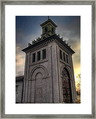 Dundurn Castle Aviary Tower Framed Print by Larry Simanzik